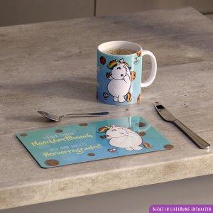 Kaffeebecher und Brettchen