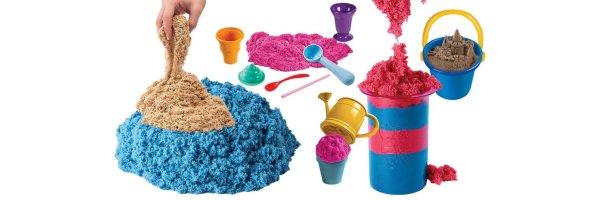Knete und Sand