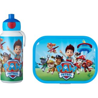 Paw Patrol Pausenset Campus -Trinkflasche Pop-up und...