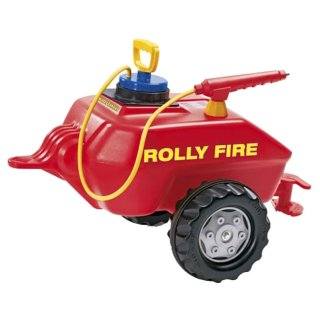 Rolly Toys Rolly Vacumax FIRE rot Feuerwehr Anhänger mit...