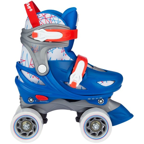 Nijdam Junior Roller Skates Adjustable Geo Metricker verstellbar blau Rollschuhe