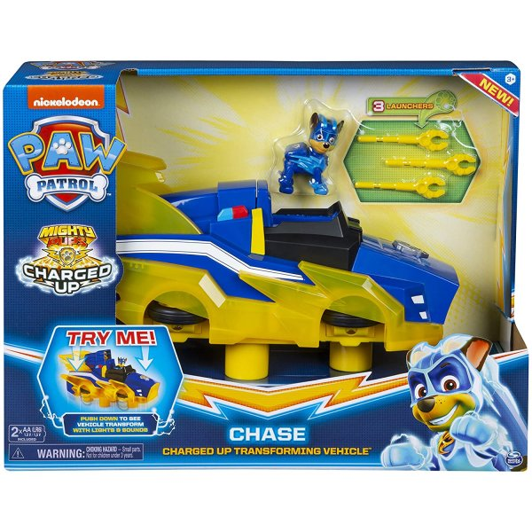 PAW PATROL MIGHTY PUPS CHASE CHARGED UP TRANSFORMING VEHICLE