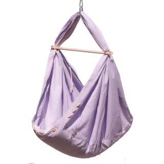 Schmusewolke Baby Federwiege Pastell Lavender Babyhängematte Babywiege mit Sitzfunktion