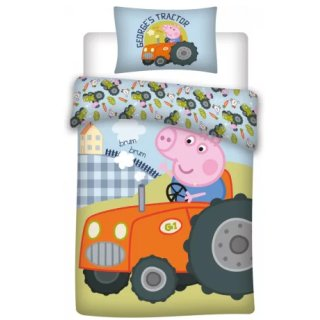 Peppa Pig Bettwäsche 100 x 135 cm blau George Trecker...