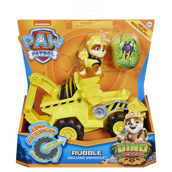 PAW Patrol Dino Rescue Rubble Deluxe Vehicle Rev Up Fahrzeug