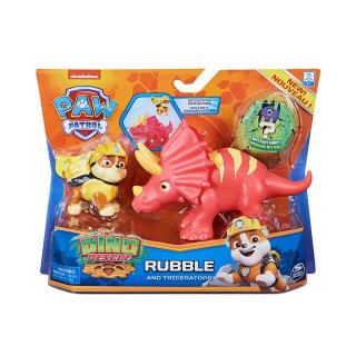 PAW PATROL DINO RESCUE ACTION PACK PUP RUBBLE