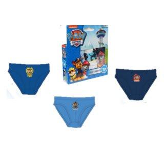 PAW PATROL Jungen 3er-Pack Unterhosen  blau Slips