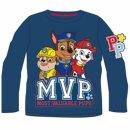 PAW PATROL Langarmshirt blau Chase Rubble Marshall MVP