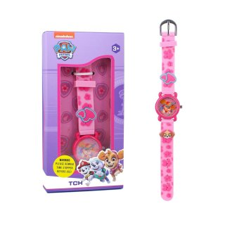 Paw Patrol Armbanduhr Skye rosa analog Kinderuhr Kinderarmbanduhr