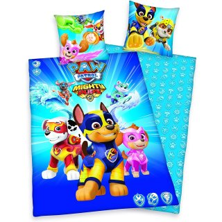 Paw Patrol MIGHTY PUPS Bettwäsche 135 x 200 cm 100%...