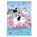 Disney Minnie und Einhorn Decke Fleece Kuscheldecke 100 x...