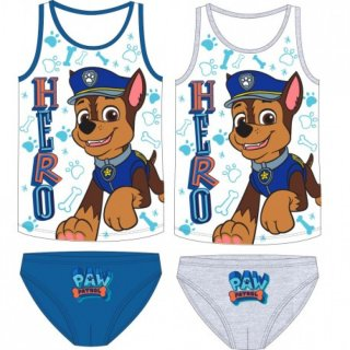 Paw Patrol Jungen Unterwäsche Chase 2-teiliges Set Unterhemd und Slip