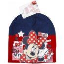 Disney Minnie Mouse Mütze Beanie blau rot...