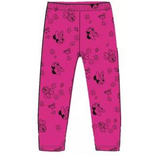 Disney Baby Minnie Thermo Leggings gefüttert Köpfe Pink schwarz