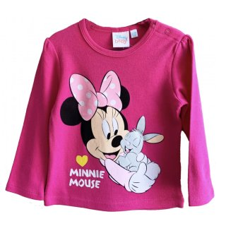 Disney Minnie Mouse Babyshirt Sweatshirt pink Minnie Maus...