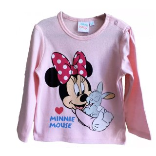 Disney Minnie Mouse Babyshirt Sweatshirt rosa Minnie Maus...