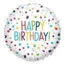 Ballon - EU Confetti Happy Birthday