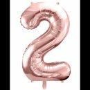 Ballon XXL - Zahl 2 - Rosegold