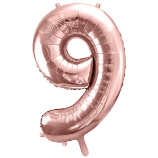 Ballon XXL - Zahl 9 - Rosegold
