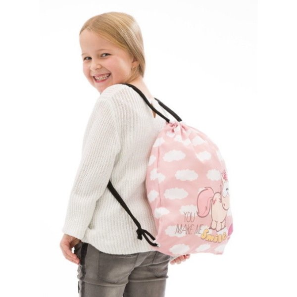 NICI Sportbeutel Theodor and Friends Einhorn you make me smile Stoffrucksack