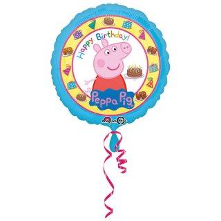 Ballon - Peppa Pig - Folienballon - Happy Birthday