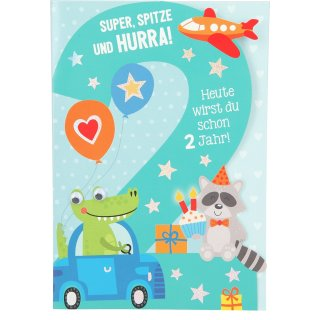 Kinder-Glückwunschkarte 2.Geburtstag - Motiv4