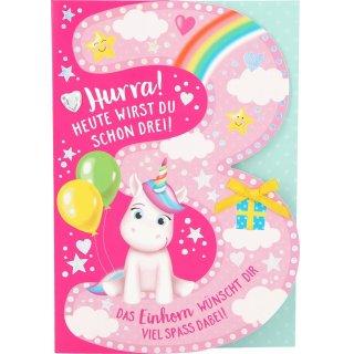 Kinder-Glückwunschkarte 3.Geburtstag - Motiv5