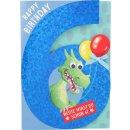 Kinder-Glückwunschkarte 6.Geburtstag - Motiv12