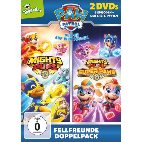Paw Patrol: Mighty Pups & Mighty Pups Super Paws 2 DVD´s