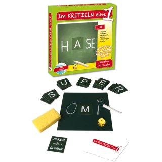 Im Kritzeln eine 1 Wörter kritzeln ABC Gesellschaftsspiel Lernspiel
