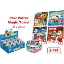 Paw patrol Magic Towel 30x30 cm Gesichtshandtuch Waschlappen