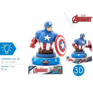 Marvel Avengers - 3D Nachtlampe Captain America