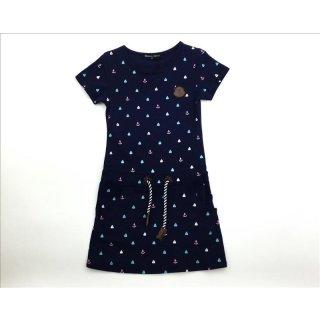 Squared & Cubed Kurzarm Kleid Anker blau