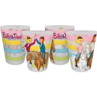 Trinkbecher Bibi & Tina Freunde 4er Set 300ml
