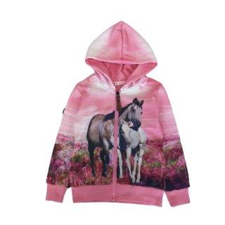 Squared & Cubed Mädchen Sweatjacke Pferde rosa