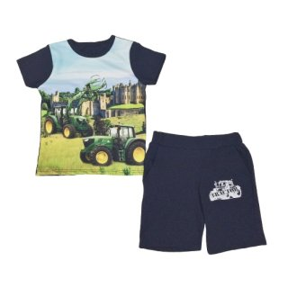 Jungen Sommer-Set Traktor T-Shirt und Shorts blau