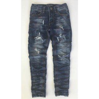 S&C Jungen Jeans Slim Fit Hose Blau mit Farbklecksen SN834