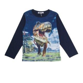 Squared & Cubed Jungen Langarm-Shirt T-Rex Dino H158