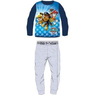 Paw Patrol Fleece Schlafanzug Hausanzug blau grau