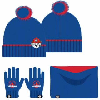 Paw Patrol Winterset Marshall Mütze Loop Handschuhe