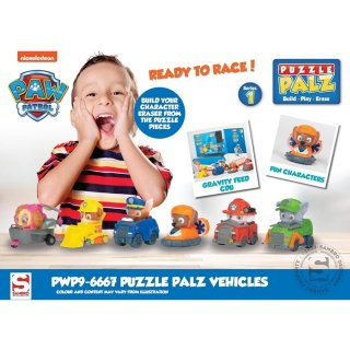 Paw Patrol 3D Puzzle Radierer Fahrzeuge