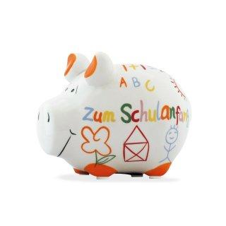 KCG Best of Sparschwein - Zum Schulanfang - Keramik handbemalt Spardose
