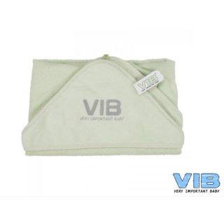 VIB® Baby Badetuch Kapuzentuch Very Important Baby hellgrün 100% Baumwolle