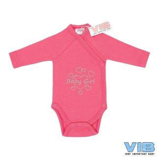 VIB® Baby Body Wickelbody Langarm Baby Girl Erstlingsausstattung