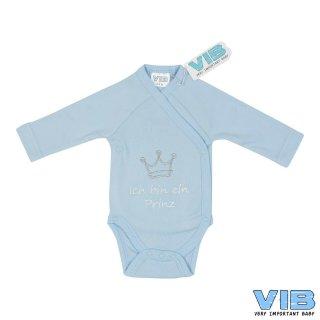 VIB® Baby Body Wickelbody Langarm Ich bin ein Prinz Erstlingsausstattung
