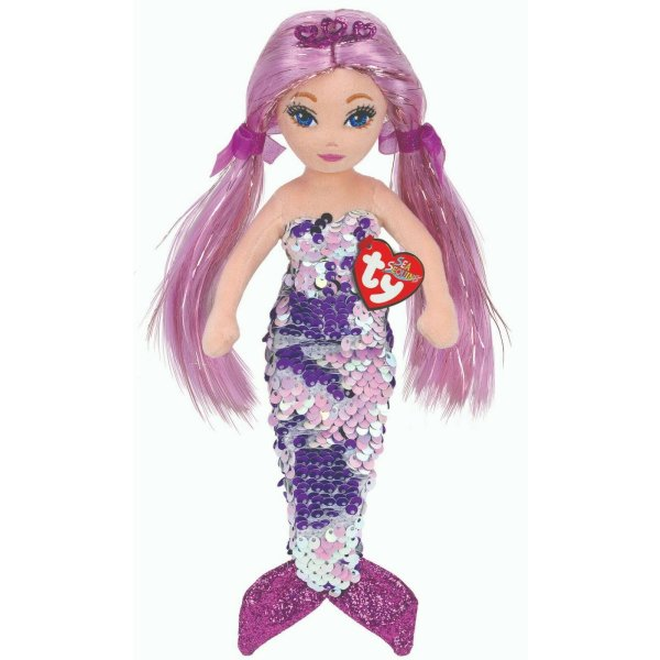 Ty Sea Sequins Mermaid Lorelei purple mit Wende Pailletten 46 cm Meerjungfrau