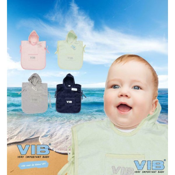 VIB® Baby Badetuch Kapuzentuch Very Important Baby rosa 100/% Baumwolle
