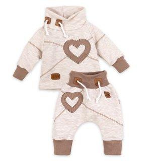 Baby Sweets Set Hose und Shirt Heart beige braun Babyset