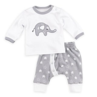 Baby Sweets Set Hose und Shirt Little Elephant weiß-grau...
