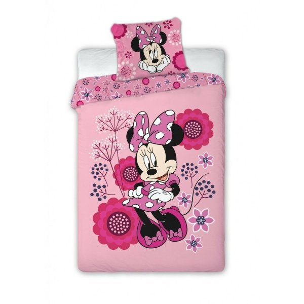 Disney Minnie Mouse Bettwäsche  135 x 200 cm Kinderbettwäsche Minnie Maus rosa